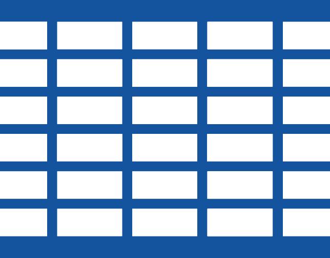 Square pitch - Rectangular holes