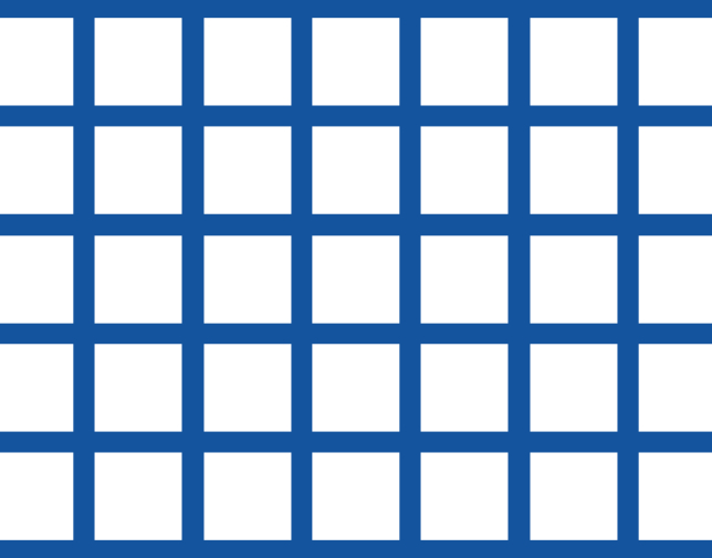 Square pitch - Square holes