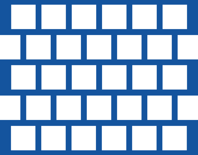 Staggered pitch - Square holes