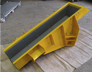 Fabricated and painted feeder