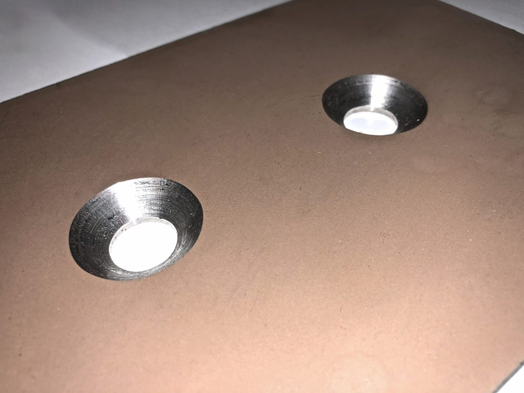 countersunk holes in metal